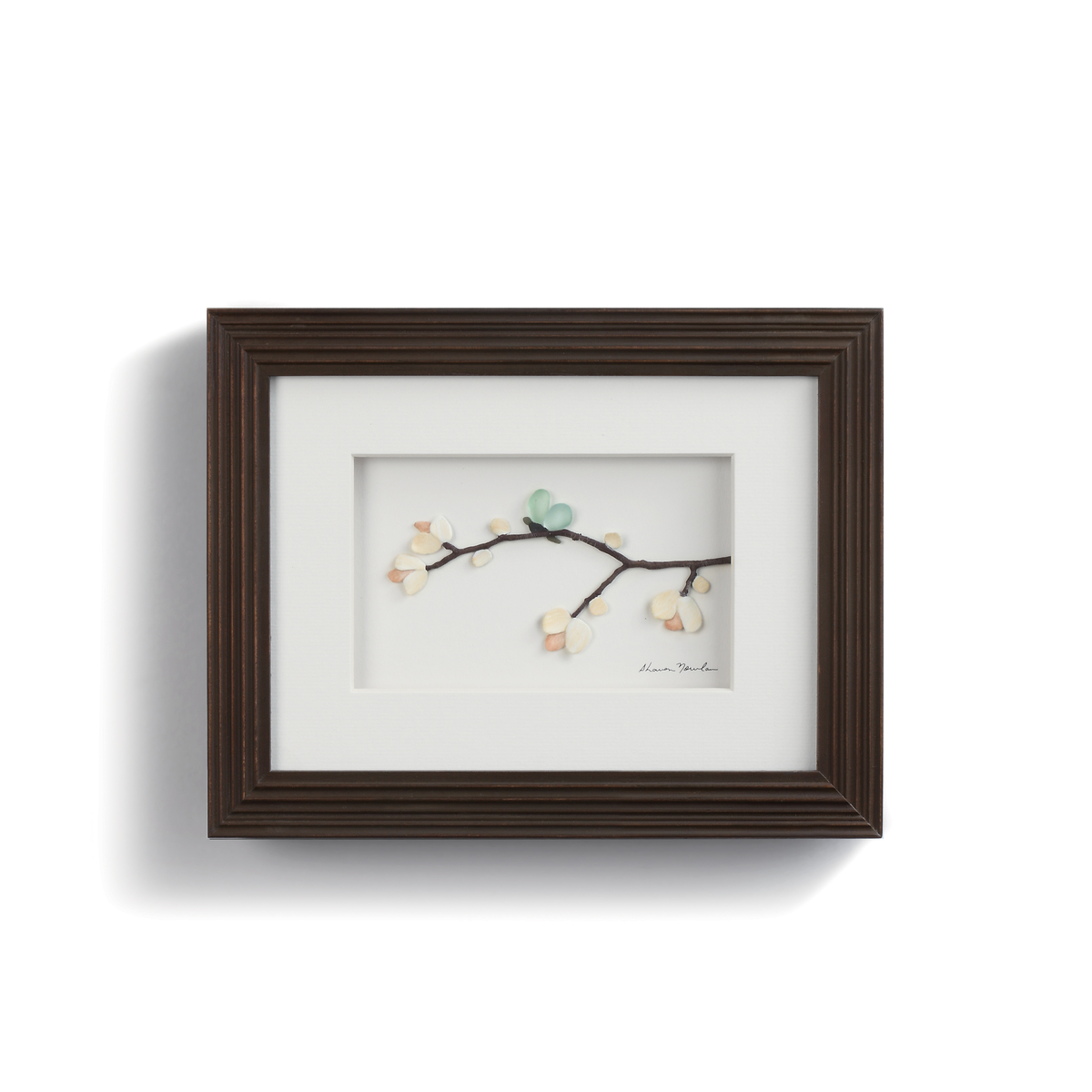 wood framed blossoms and delight wall art
