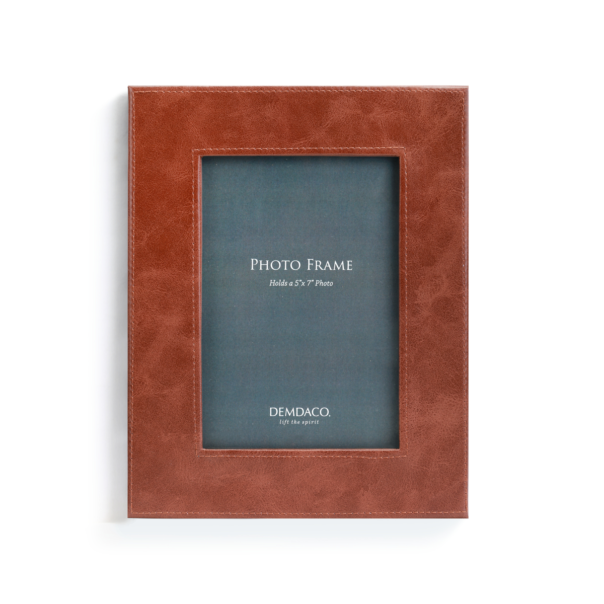 brown leather 5x7 photo frame